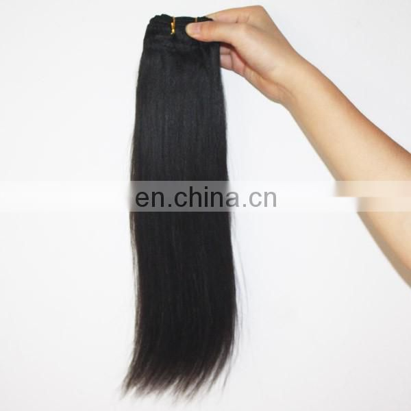 Human hair weft fast shipping light yaki hair