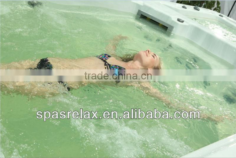 High quality Swimming Spa Pools Swim Pools with LED light and Pop-Up TV