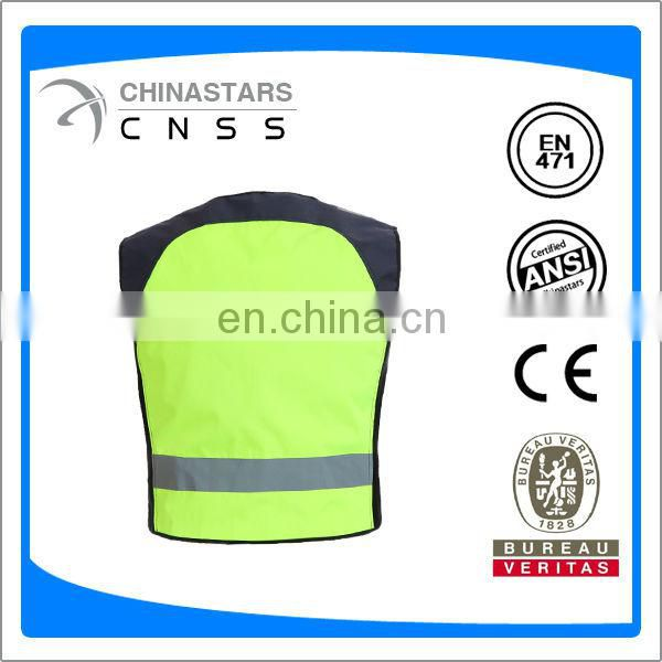 high viz lime reflective safety vest for cycing