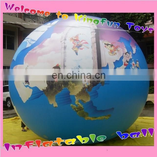 Colored LED inflatble helium balloon