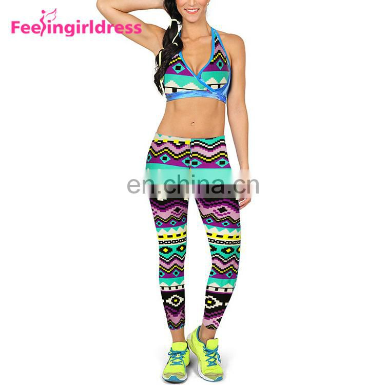 180G Weight Cheap Custom Logo 3D Print Super Soft Brushed Leggings For Women