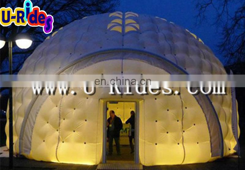 water proof nylon material dome led light inflatable party tent for outdoor