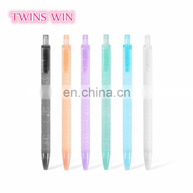 Made in China fancy advertisement stationery wholesale 2018 New Arrival School Fashion Multicolor plastic gel ink pen