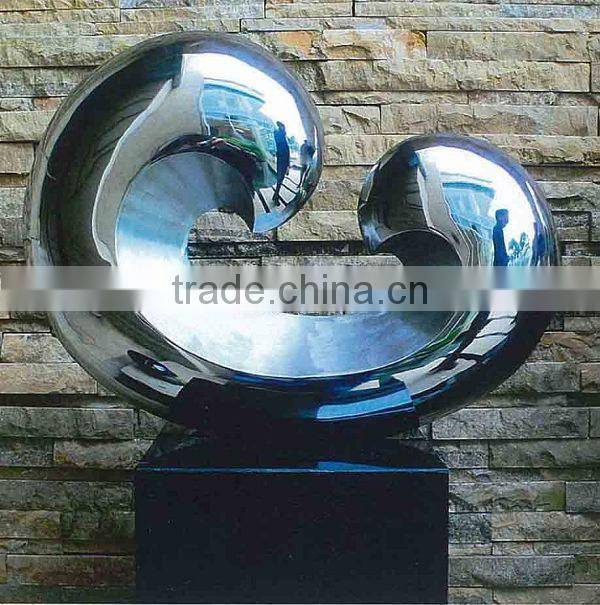 abstract theme stainless steel sculpture