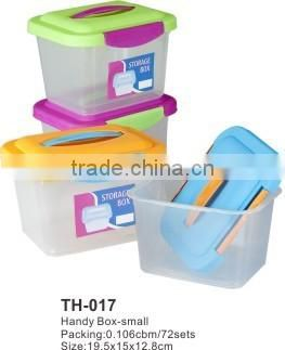 plastic rectangle suitcase,handy box,storage box,us general tool box th750
