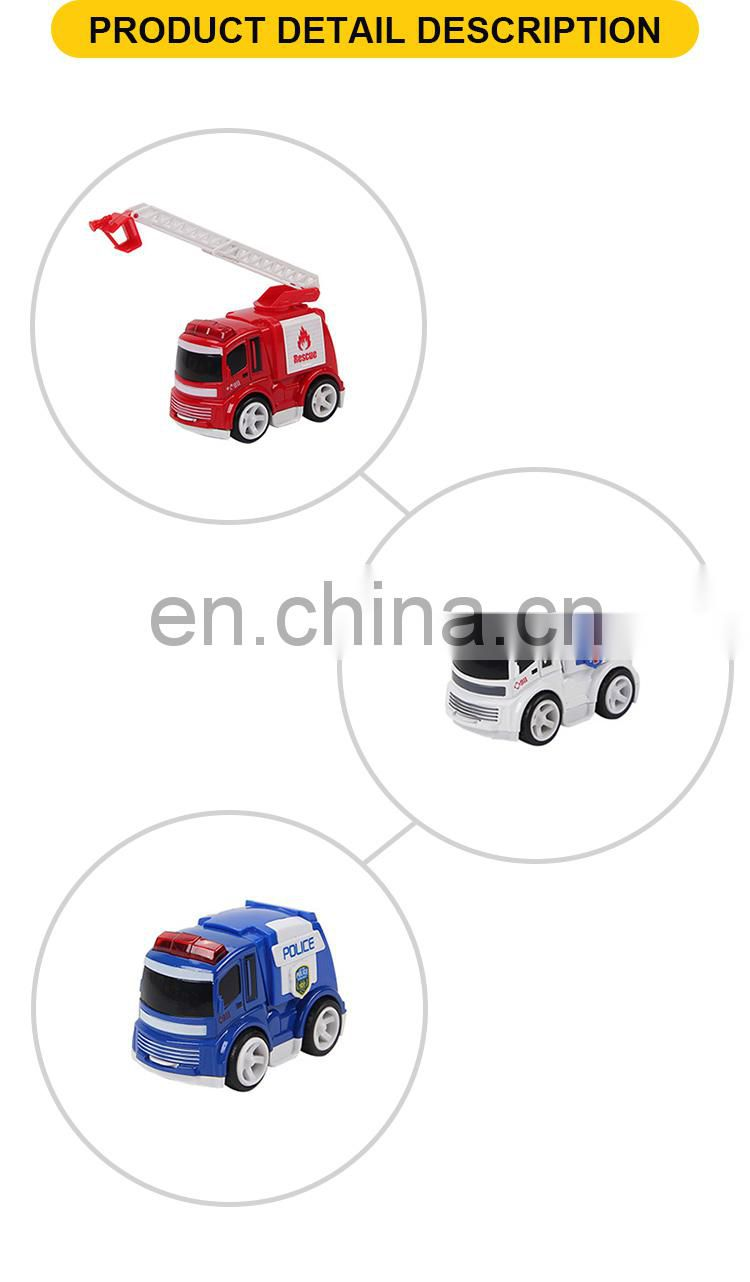 Friction mental toys fire fighting truck and ambulance toys vehicle
