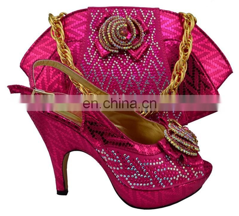 African high quality shoes matching bas/nigeria shoes and bags/aso-ebi black shoes bags