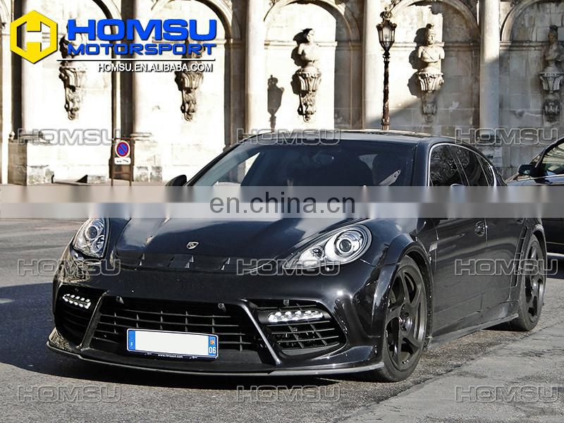 best selling top car panamera 2010-2013 970 FRP+CF Material front rear bumper auto parts accesorry for MS Style body kits