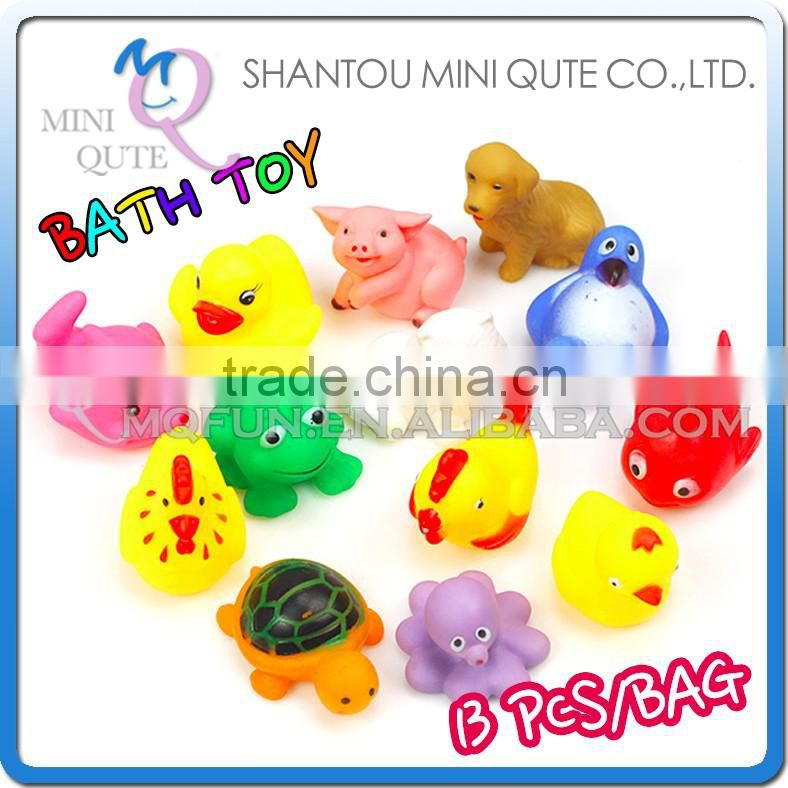MINI QUTE 13Pcs/bag BB sound Baby Toys Children Mixed Different Animal Baths Toy Educational Washing Set Water Toys NO.MQ 124 Image