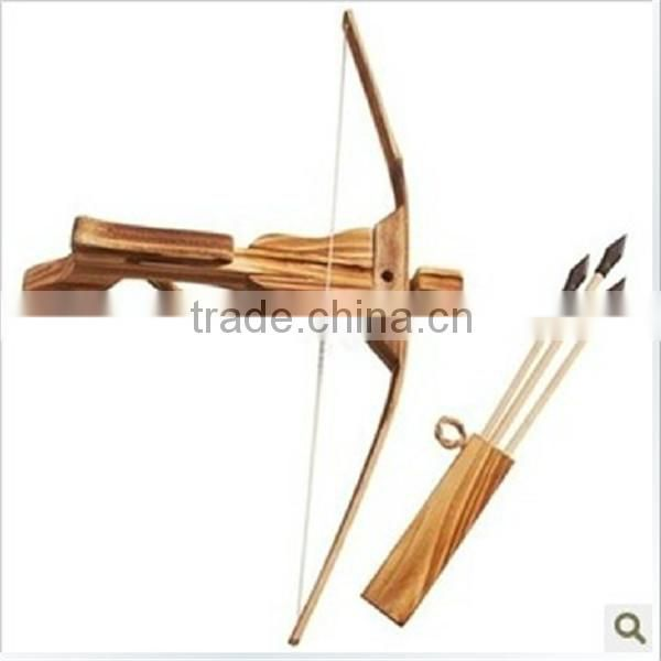 Mini Kids Toy Gift Crossbow Gun To Shooting Wood Crossbow And Arrow Quiver Arrow For Archery Arrow