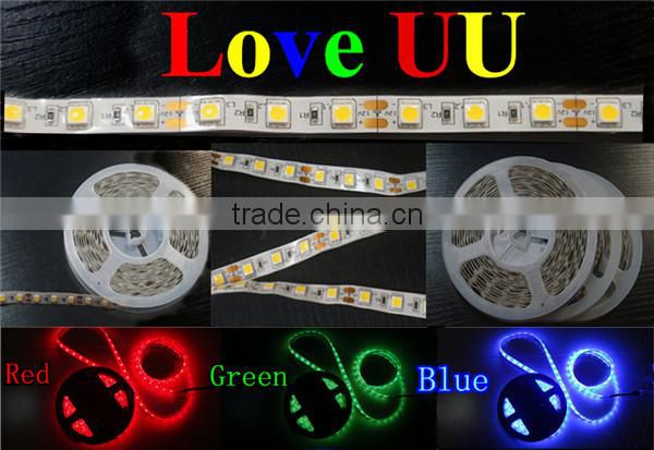 High quality superthin silicone ip65 black circuit board 5050 led light strip blue smd