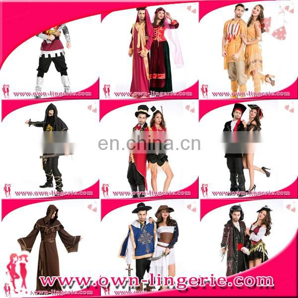 New pirate lady dress halloween cosplay costume Good quality Red fancy dress for adult