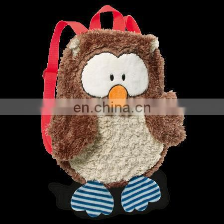 Wholesale animal backpack bag plush owl backpack