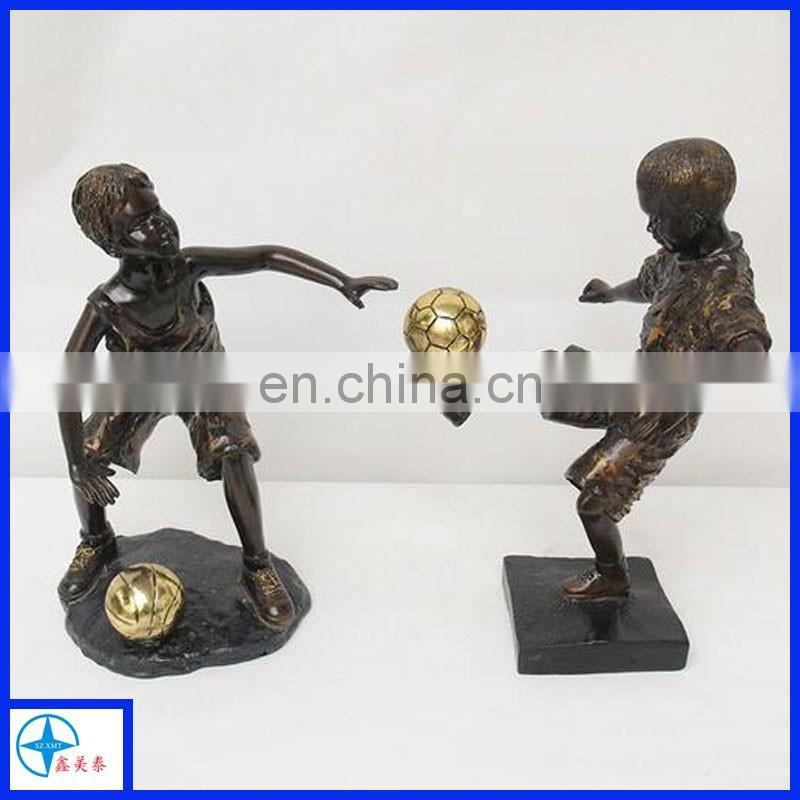 2017 Hot Sale Nude Male Silver/Bronze Angel Statue for sports