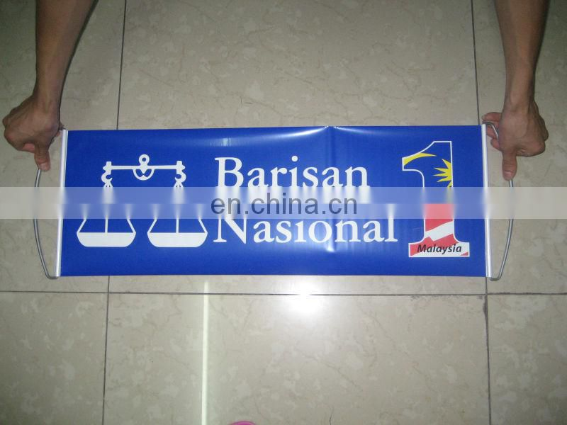 Promotional Hand Held Scrolling Banner for Advertising