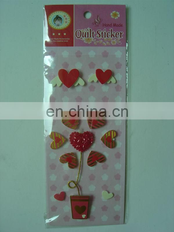 Hand made sticker/3D sticker for kids(ZY14-3068)