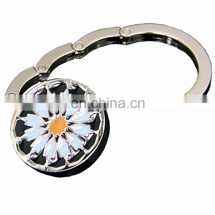 Bag purse hook hanger holder with compact mirror bag hanger