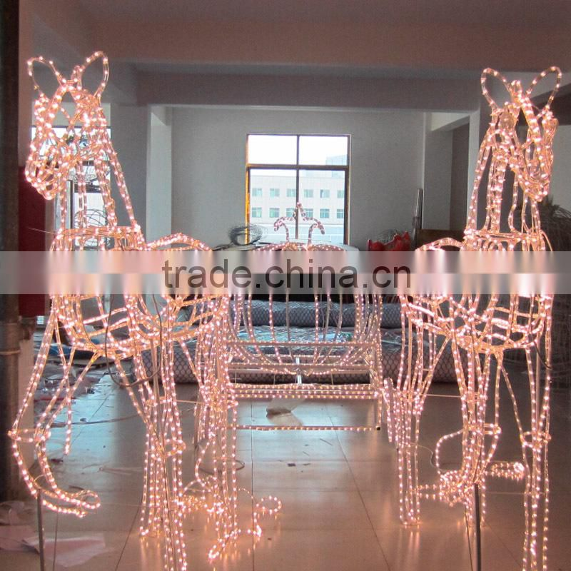 outdoor festival 3D led motif light decoration for building wall ...