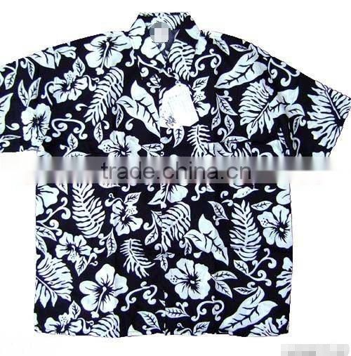 Men's Hawaiian beach shirts with flower printing