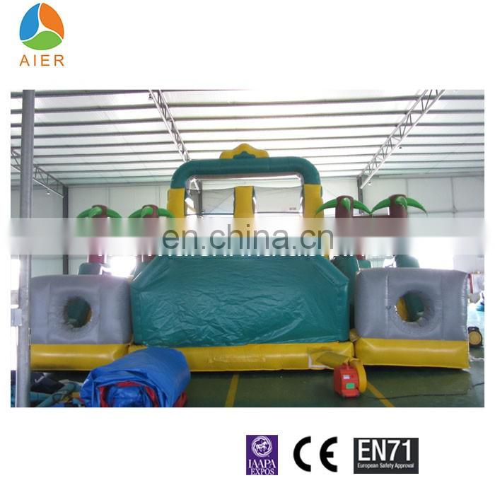 Newest Rainforest Inflatable Obstacle Course with slide, inflatable sport game with CE certification