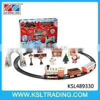 Battery operated smoking railway train toy christmas gift for kids