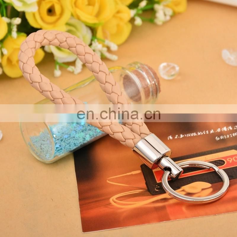 Promotional Hot Sale Wholesale Elegant Luxury Custom Metal Braided Rope Woven Keychain