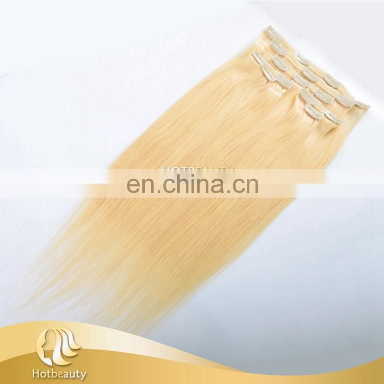 New Arrival 24 Inch Clip In Human Straight Hair Extensions