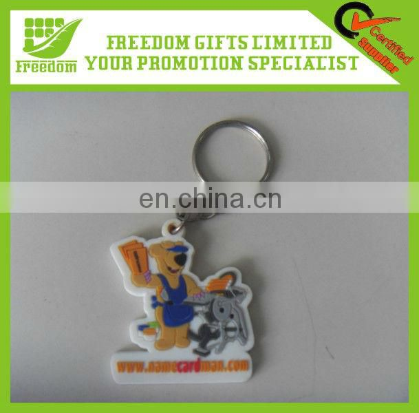 Promotional Plastic PVC Engraved Key Ring