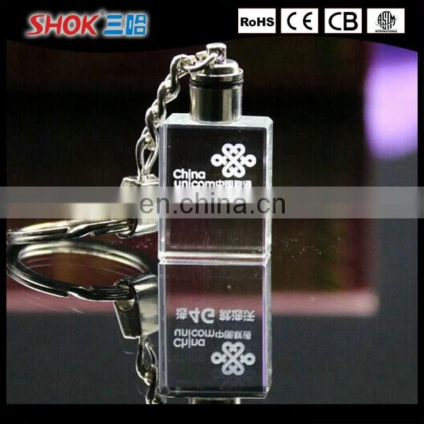 Wholesale promotional gifts cheap custom led crystal keychain