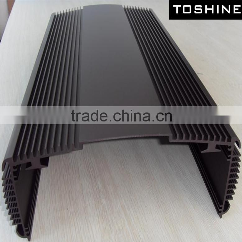 TOSHINE low price hot selling 6063 t5 black anodized aluminum car amplifier shell aluminum extrusion profiles