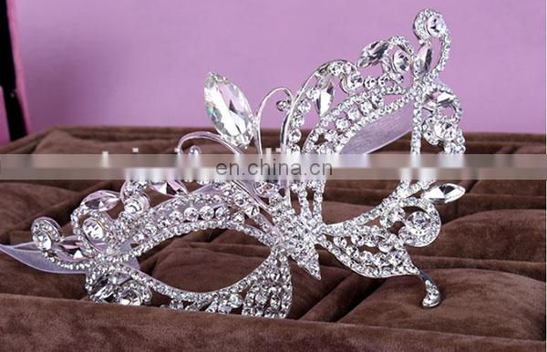 Travel eye mask white Halloween Mask With Shinning Crystals