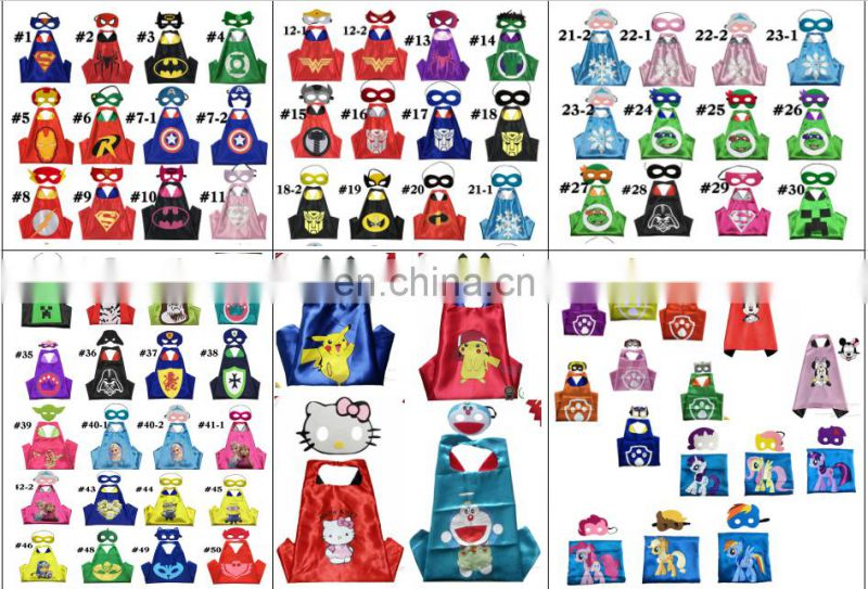 Customized single layer superhero cape wholesale cape for kids and adults