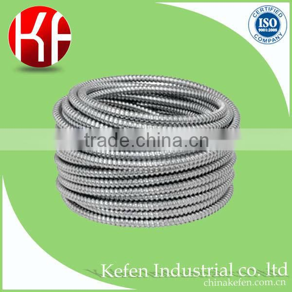 BS4568 zinc-plated galvanized non-liquid tight flexible conduit / 51mm diameter flexible metal conduit