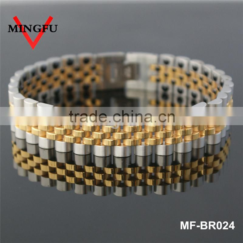 stainless steel ankle bracelet, plated gold and black ankle bracelet