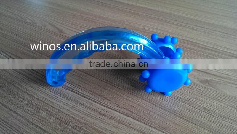 Blue roller body massager