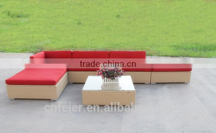 patio furniture round pe rattan sofa
