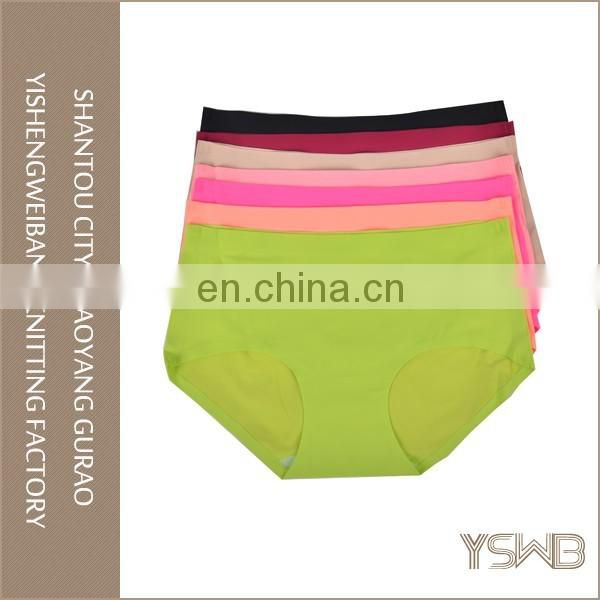 Plain dyed comfortable silk anti-bacterial fashion hot sale women panty
