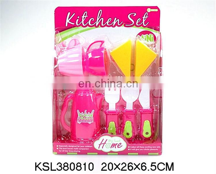 Popular kids plastic kitchen set toys