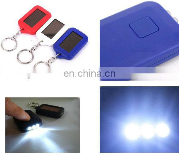 Promotional Led Light Solar Key chains Lovely led key chains can be print logo for promotion