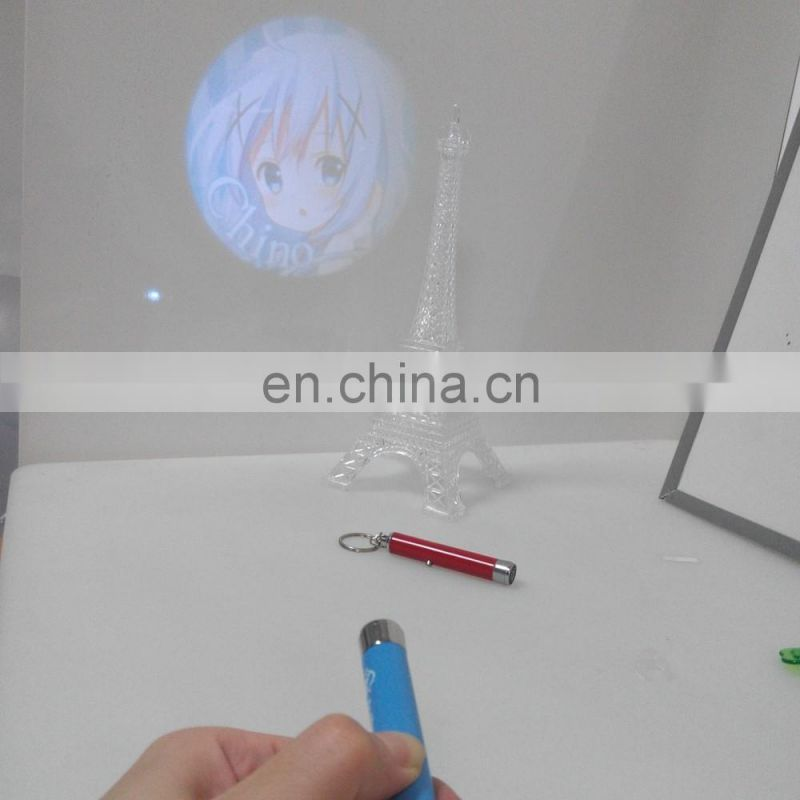 New led keychain keychain with custom image projection
