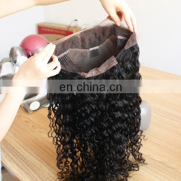 New arrivals hair brazilian virgin deep curly full lace wig with baby hair for african americans