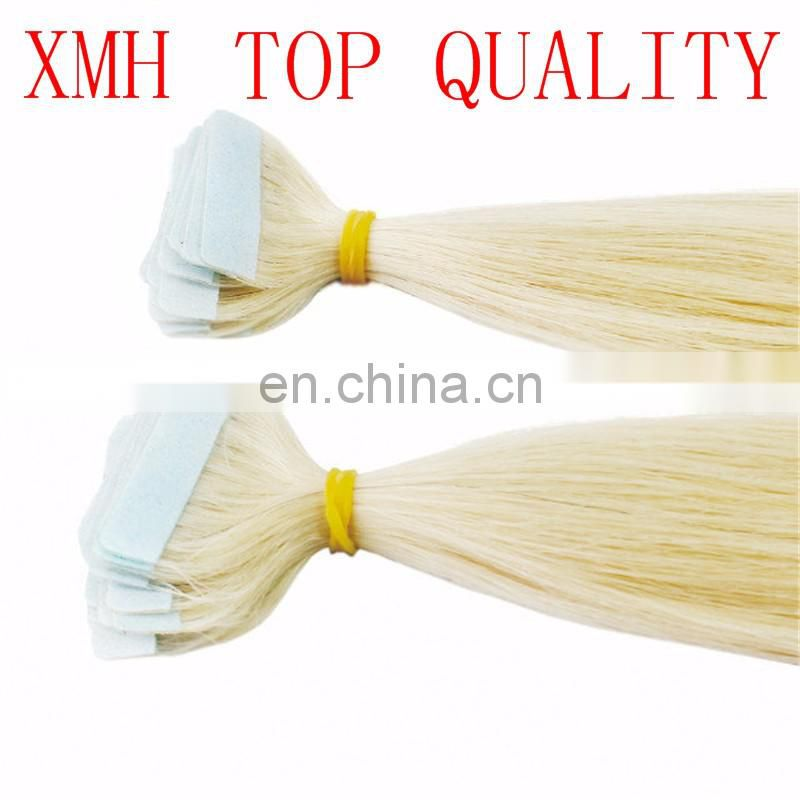 Double drawn grade 10A virgin curly tape hair extensions, 100 brazilian human virgin wholesale hair