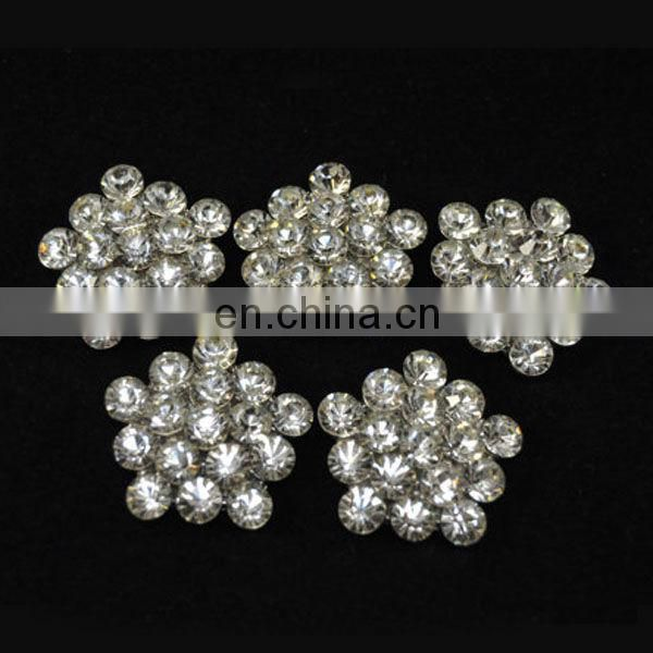 Yiwu bling hot sale rhinestone button manufacturer
