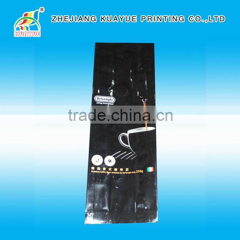 Customized Durable Aluminum Foil Coffee Bag with Valve, Valved Coffee Bean Bag
