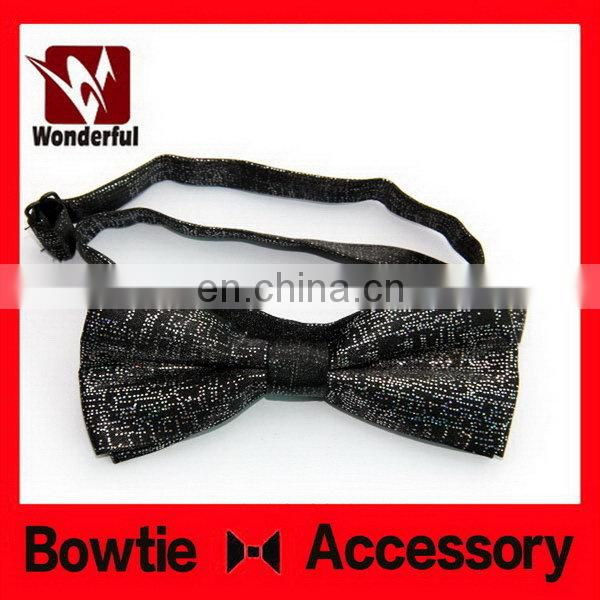 High quality hot-sale silk sliver self tie bow tie
