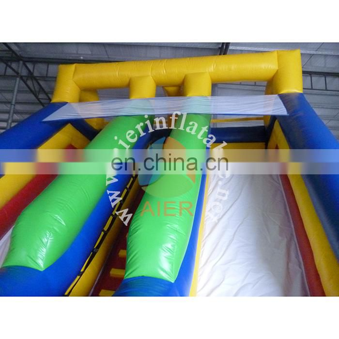 Most popular child and adult sport games inflatable slide cheap double lane water slide inflatable for sale
