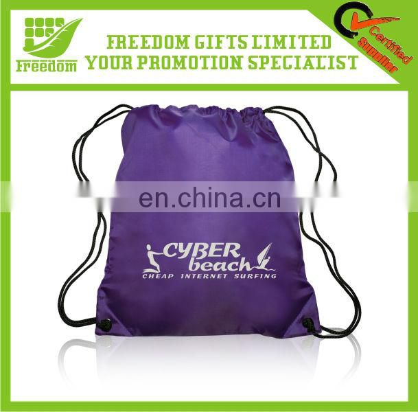 Promotional Cutom Logo Branded Drawstring Sports Bag