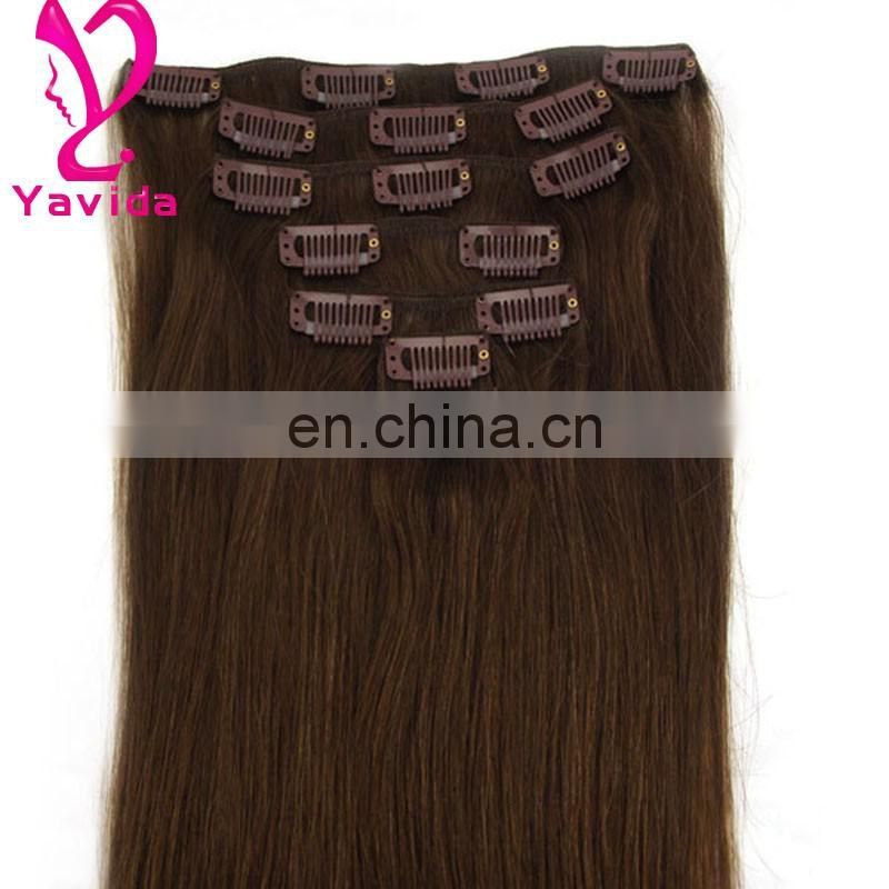 high quality long cheap 100% human hair clip in hair extension alibaba china