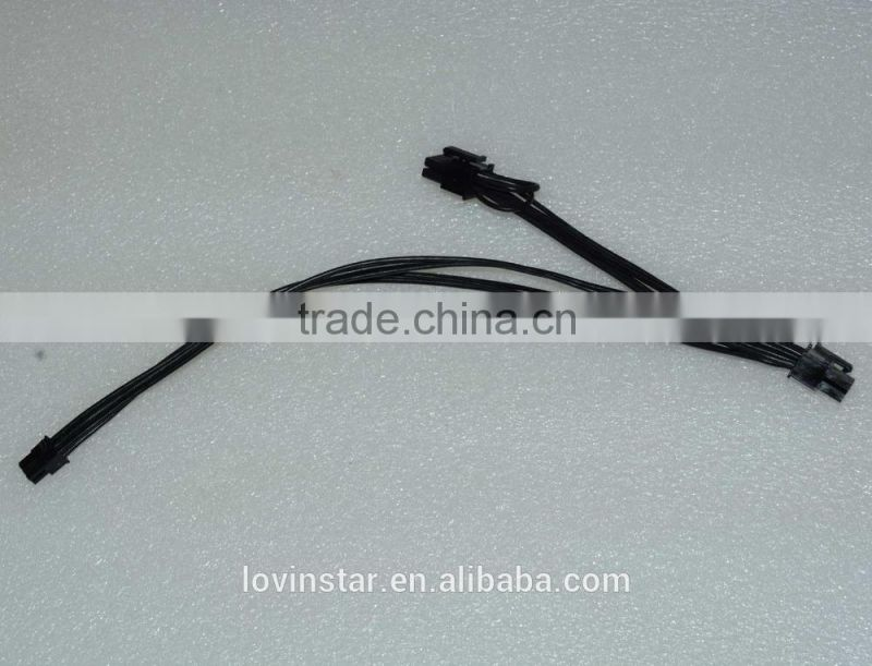 Custom Mini 6pin to 6pin&8pin(6+2) PCI-e Dual hirose Power Cable for Apple Mac Pro Video Card Image