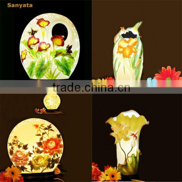 Beautiful and elegant porcelain antique hand painted lamps